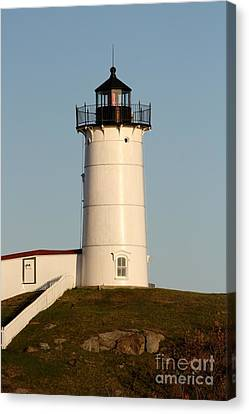 The Lighthouse In York Maine Canvas Print by Mesa Teresita