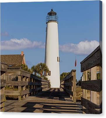 The Lighthouse On St. George Island Canvas Print by Capt Gerry Hare