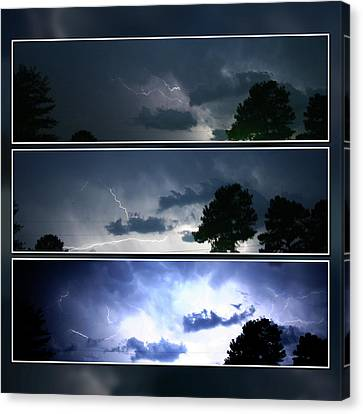 The Lightning Story Canvas Print by Adam LeCroy