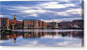 The Lights Come On In Portsmouth Canvas Print