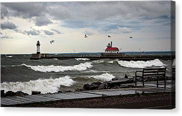 The Lights In The Storm Canvas Print by David Wynia