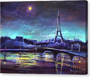 The Lights Of Paris Canvas Print by Randy Burns