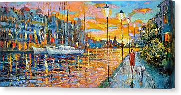 The Lights Of The Stockholm Canvas Print by Dmitry Spiros