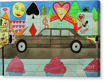 The Limo Of Sucess And Love Canvas Print by Don Pedro De Gracia