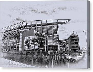 The Linc - Philadelphia Eagles Canvas Print by Bill Cannon