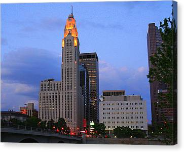 The Lincoln Leveque Tower Canvas Print by Laurel Talabere