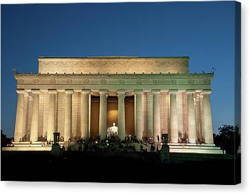 Canvas Print featuring the photograph The Lincoln Memorial by Mark Dodd