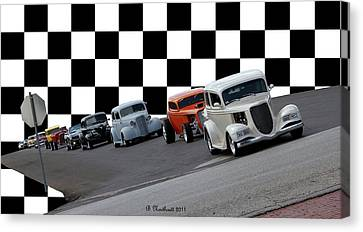 The Line-up Canvas Print by Betty Northcutt