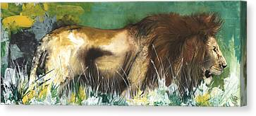 The Lion Canvas Print by Anthony Burks Sr