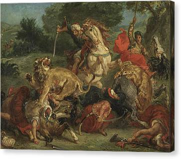 The Lion Hunt Canvas Print