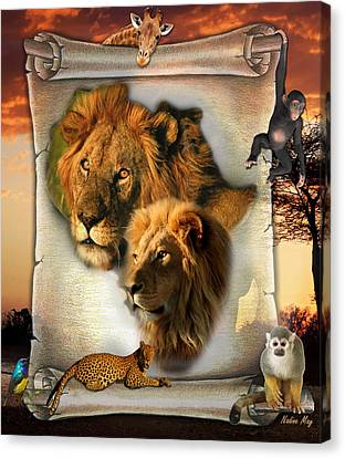 The Lion King From Africa Canvas Print by Nadine May