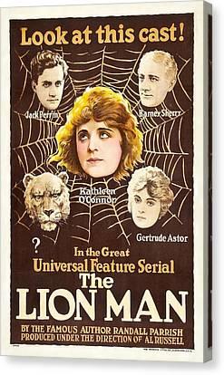 The Lion Man 1919 Canvas Print by Mountain Dreams