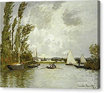 The Little Branch Of The Seine At Argenteuil Canvas Print