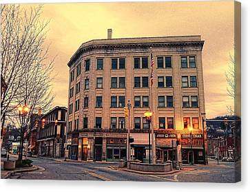 The Little Building Canvas Print by Juanita L Ruffner