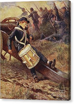 The Little Drummer Canvas Print by William Henry Charles Groome