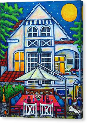 Canvas Print - The Little Festive Danish House by Lisa  Lorenz