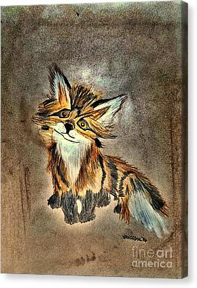 The Little Fox - Abstract Canvas Print by Scott D Van Osdol