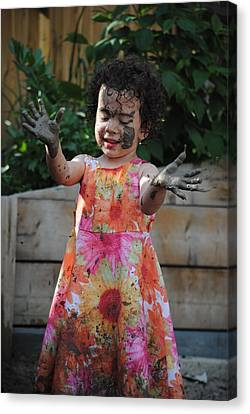 The Little Gardener Canvas Print