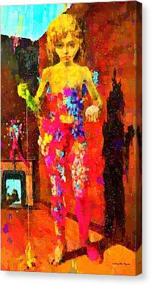 The Little Girl - Da Canvas Print by Leonardo Digenio