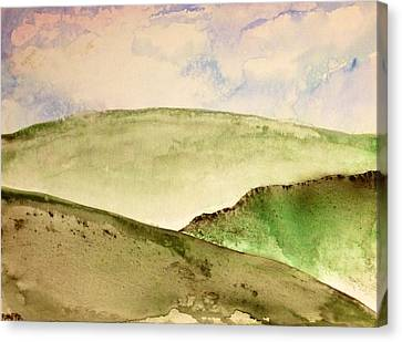 Canvas Print featuring the painting The Little Hills Rejoice by Antonio Romero