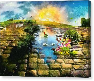 The Little Lake - Da Canvas Print by Leonardo Digenio