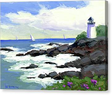 The Little Light House Canvas Print by Mary Byrom
