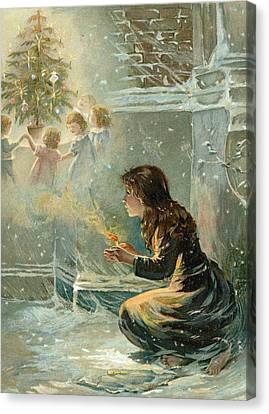 The Little Match Girl Canvas Print by English School