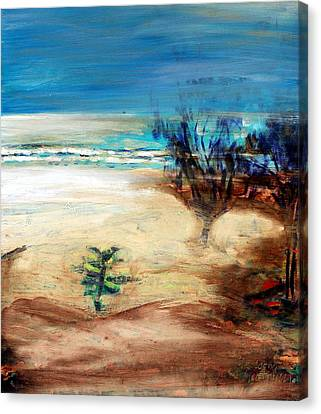 Canvas Print featuring the painting The Little Pine Tree by Winsome Gunning
