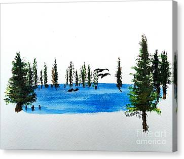 The Little Pond In The Forest Canvas Print by Scott D Van Osdol