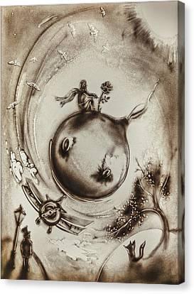 The Little Prince Canvas Print by Elena Vedernikova