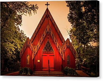 The Little Red Church Canvas Print