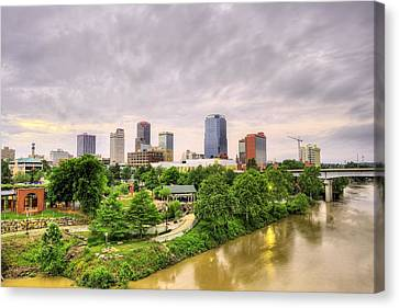 The Little Rock Skyline Canvas Print by JC Findley