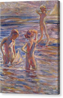 Tuke Canvas Print - The Little Sailing Club by Johan Axel Gustav Acke