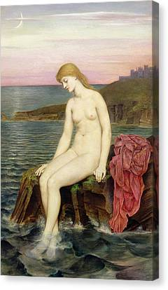 The Little Sea Maid  Canvas Print by Evelyn De Morgan