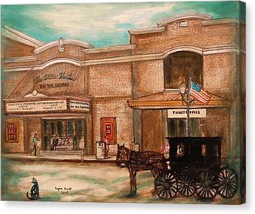 The Little Theatre Canvas Print by Regina Brandt