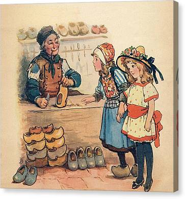 The Little Wooden Shoe Maker Canvas Print by Reynold Jay