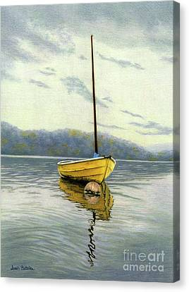 The Yellow Sailboat Canvas Print by Sarah Batalka