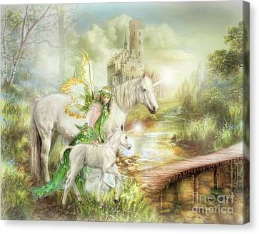 The Littlest Unicorn Canvas Print by Trudi Simmonds