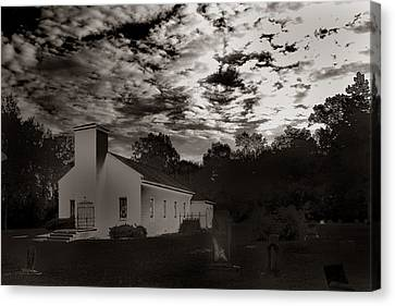The Living And The Dead Canvas Print by Joseph G Holland