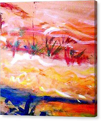 Canvas Print featuring the painting The Living Dunes by Winsome Gunning