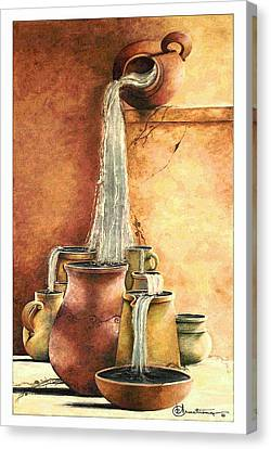 The Living Water Canvas Print by Denise Armstrong