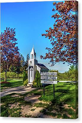 Wayside Cross Canvas Print - The Living Water Wayside Chapel by Leslie Montgomery