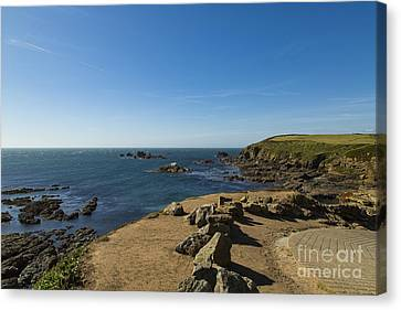 Canvas Print featuring the photograph The Lizard Point by Brian Roscorla