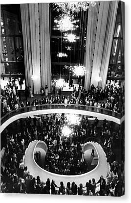 The Lobby Of The Metropolitan Opera Canvas Print by Everett