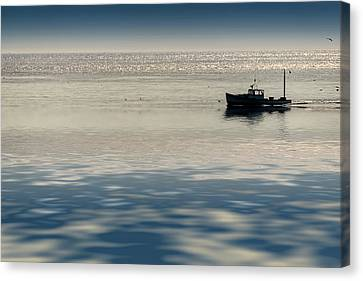 The Lobster Boat Canvas Print by Rick Berk