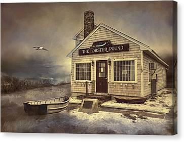 Canvas Print featuring the photograph The Lobster Pound by Robin-Lee Vieira