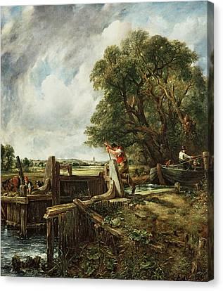 The Lock Canvas Print by John Constable