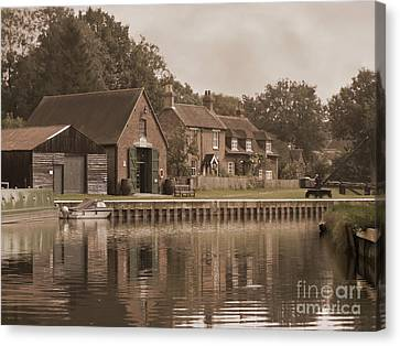 The Lock Keeper's Cottage Canvas Print by Terri Waters