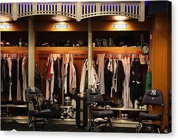 Arod Canvas Print - The Locker Room At Yankee Stadium by Michael Albright