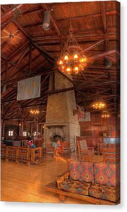 The Lodge At Starved Rock State Park Illinois Canvas Print by Steve Gadomski